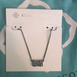 Kendra Scott Pattie Necklace - Platinum Drusy